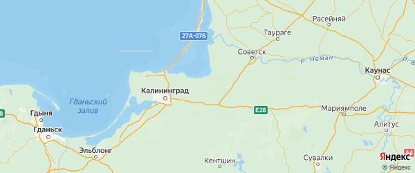 Карта Полесского района Калининградской области с городами и населенными пунктами