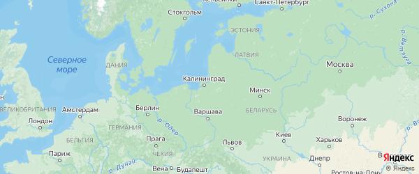 Карта Калининградской области с городами и районами