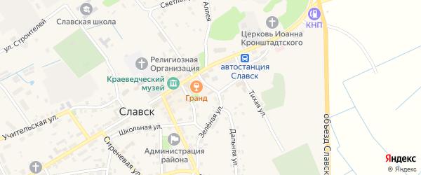 Колхозная улица на карте Славска с номерами домов