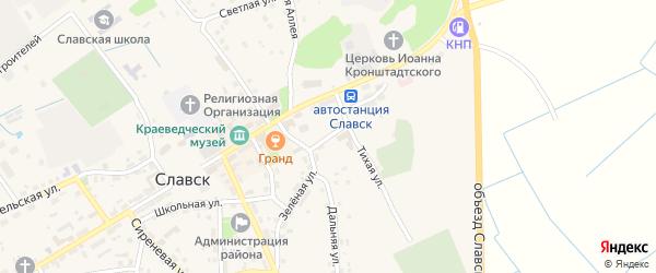Улица Пушкина на карте Славска с номерами домов