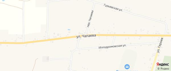 Улица Чапаева на карте Советска с номерами домов
