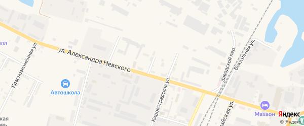 Гвардейская улица на карте Советска с номерами домов