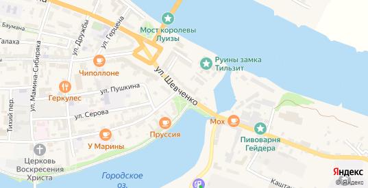 Улица Шевченко в Советске с номерами домов на карте. Спутник и схема онлайн