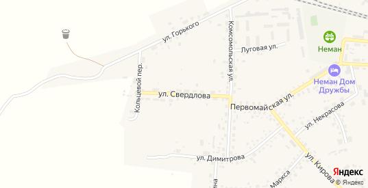 Улица Свердлова в Немане с номерами домов на карте. Спутник и схема онлайн
