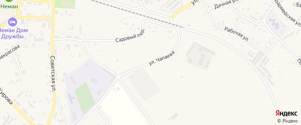 Улица Чапаева на карте Немана с номерами домов