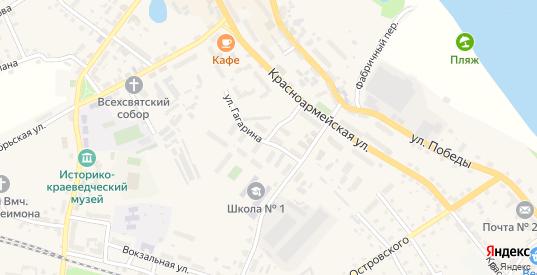 Улица Гагарина в Немане с номерами домов на карте. Спутник и схема онлайн