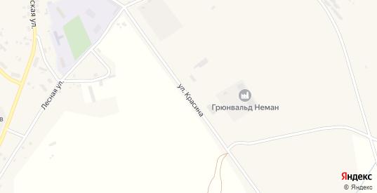 Улица Красина в Немане с номерами домов на карте. Спутник и схема онлайн