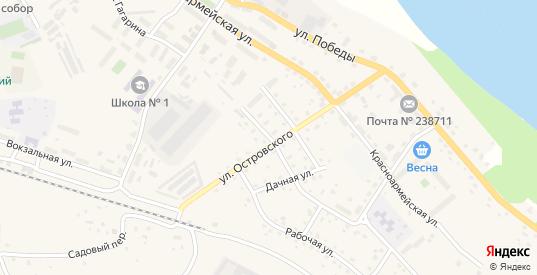 Улица Мичурина в Немане с номерами домов на карте. Спутник и схема онлайн