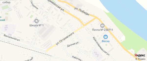 Зеленый переулок на карте Немана с номерами домов
