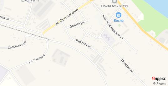 Рабочая улица в Немане с номерами домов на карте. Спутник и схема онлайн
