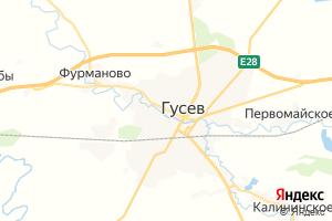 Карта г. Гусев Калининградская область