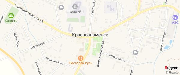 Березовая улица на карте Краснознаменска с номерами домов