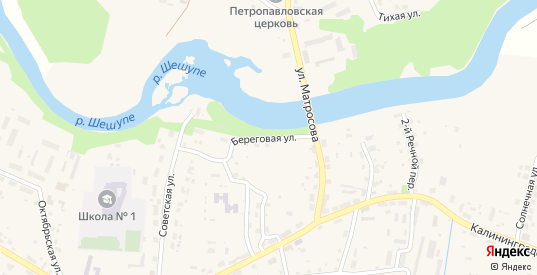 Береговая улица в Краснознаменске с номерами домов на карте. Спутник и схема онлайн
