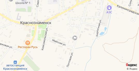 Заводской переулок в Краснознаменске с номерами домов на карте. Спутник и схема онлайн