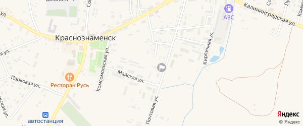 Заводской переулок на карте Краснознаменска с номерами домов