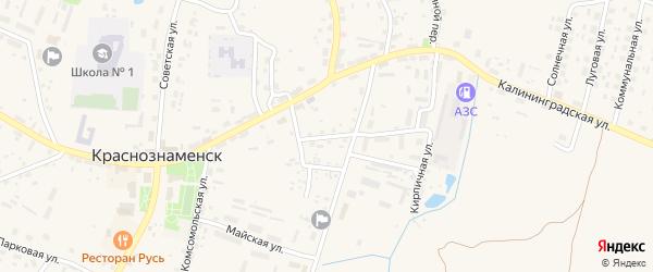 Полевая улица на карте Краснознаменска с номерами домов