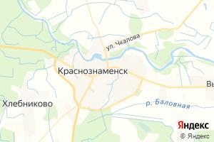 Карта г. Краснознаменск Калининградская область