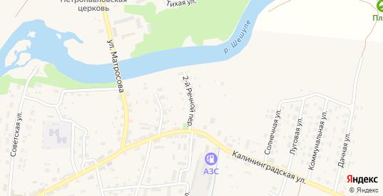 Речной 2-й переулок в Краснознаменске с номерами домов на карте. Спутник и схема онлайн