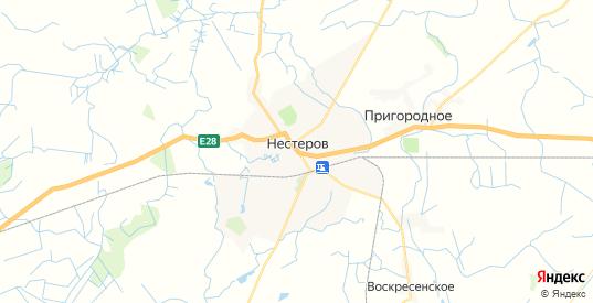 Карта Нестерова с улицами и домами подробная. Показать со спутника номера домов онлайн