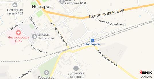 Привокзальная улица в Нестерове с номерами домов на карте. Спутник и схема онлайн