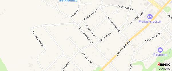 Пограничная улица на карте Печор с номерами домов