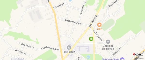 Розовая улица на карте Печор с номерами домов