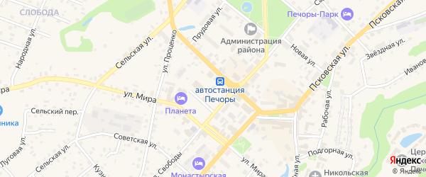 Октябрьская улица на карте Печор с номерами домов