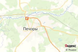 Карта г. Печоры Псковская область