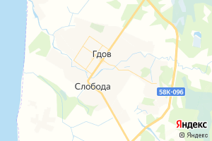 Карта г. Гдов Псковская область