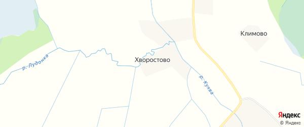 Карта деревни Хворостово (скадинской волость) в Псковской области с улицами и номерами домов