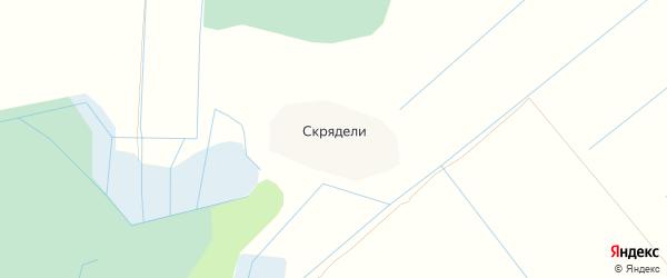 Карта деревни Скрядели в Псковской области с улицами и номерами домов