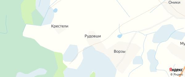 Карта деревни Рудовши в Псковской области с улицами и номерами домов