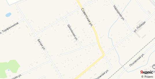 Школьная улица в Пыталово с номерами домов на карте. Спутник и схема онлайн