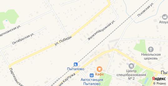 Железнодорожная улица в Пыталово с номерами домов на карте. Спутник и схема онлайн