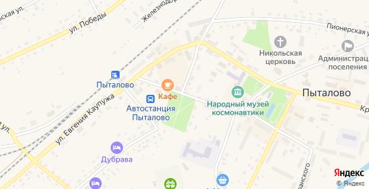 Пушкинская улица в Пыталово с номерами домов на карте. Спутник и схема онлайн