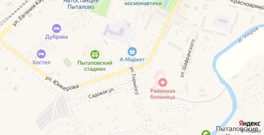 Улица Горького в Пыталово с номерами домов на карте. Спутник и схема онлайн