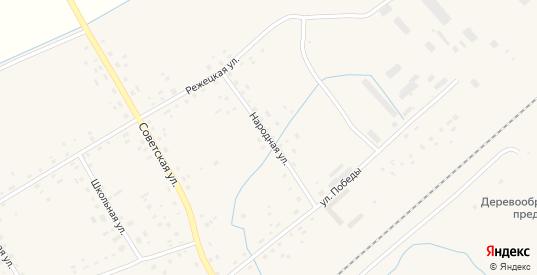 Народная улица в Пыталово с номерами домов на карте. Спутник и схема онлайн