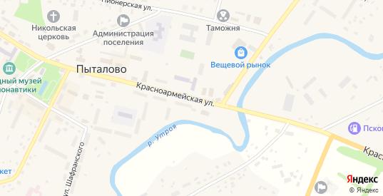 Красноармейская улица в Пыталово с номерами домов на карте. Спутник и схема онлайн