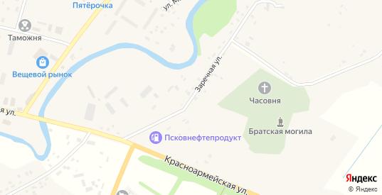 Заречная улица в Пыталово с номерами домов на карте. Спутник и схема онлайн