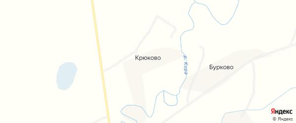Карта деревни Крюково в Псковской области с улицами и номерами домов