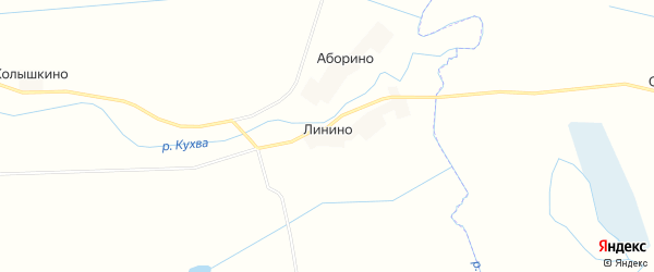 Карта деревни Линино в Псковской области с улицами и номерами домов