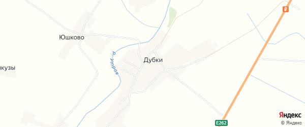 Карта деревни Дубки города Пскова в Псковской области с улицами и номерами домов