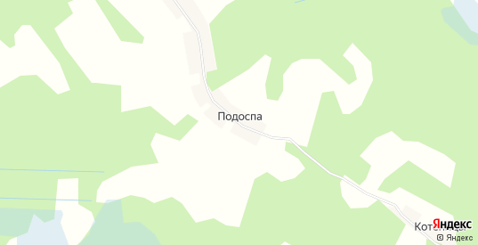 Карта деревни Подоспа в Гдове с улицами, домами и почтовыми отделениями со спутника онлайн
