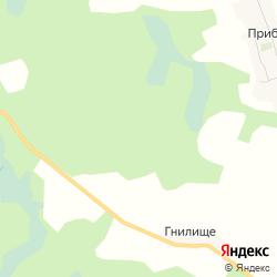 Сельхозземли с комплексом зданий и сооружений в деревне Прибуж на карте
