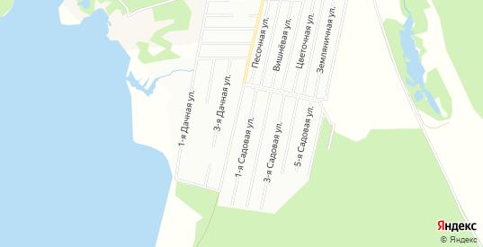 Карта садового некоммерческого товарищества Южный-1 ОНТ в Ивангороде с улицами, домами и почтовыми отделениями со спутника онлайн