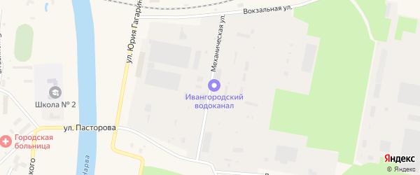 Механическая улица на карте Ивангорода с номерами домов