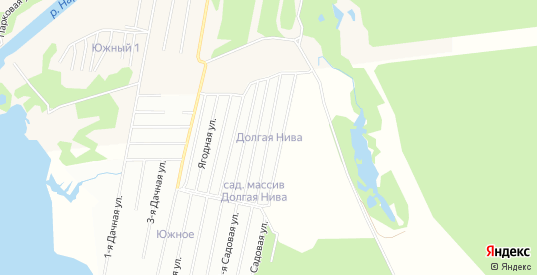 Карта садового некоммерческого товарищества Долгая нива в Ивангороде с улицами, домами и почтовыми отделениями со спутника онлайн