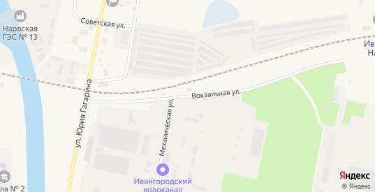 Вокзальная улица в Ивангороде с номерами домов на карте. Спутник и схема онлайн