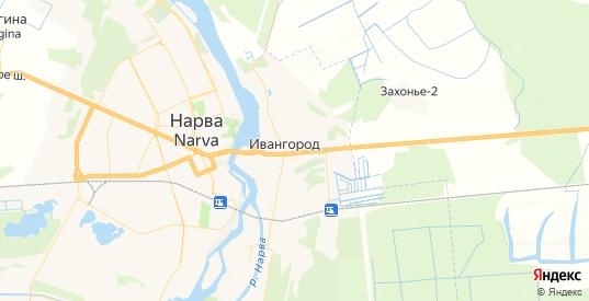 Карта Ивангорода с улицами и домами подробная. Показать со спутника номера домов онлайн