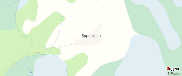 Карта деревни Боросково в Псковской области с улицами и номерами домов